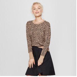 Leopard Print Pullover Sweater